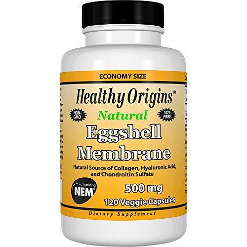 Caps 120 Collagen - Healthy Origins Eggshell Membrane (NEM) 500 mg, 120 Veggie Caps