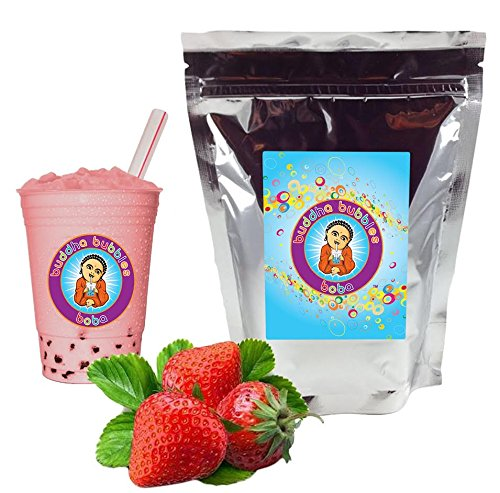 Strawberry Cream Boba/Bubble Tea Powder By Buddha Bubbles Boba 10 Ounces (283 ()