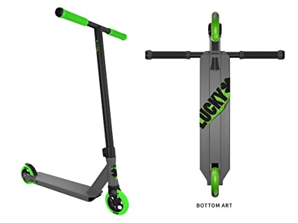 Lucky Crew Pro 2017 - Scooter Freestyle (Gris/Verde): Amazon ...