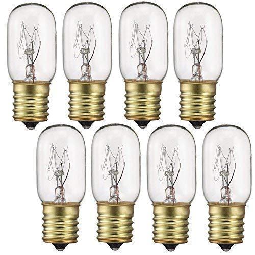 40 Watt Appliance Light Bulb, T8 Tubular Incandescen Light Bulbs, Microwave Oven Bulb, E17 Indicator Intermediate Base Light Bulb, 8 Pack