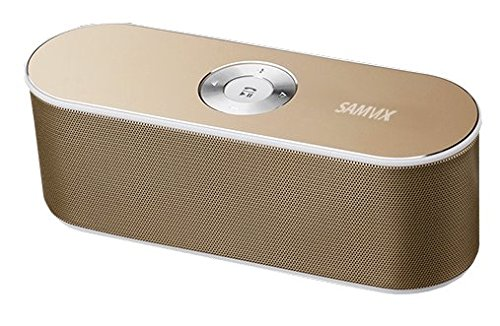 SAMVIX BT BOX BASS X65 Wireless Bluetooth Speaker system, Outdoor and indoor Strong Bass speaker, Speakerphone, SD Card, USB, AUX wire cable Inputs, Gold portable bluetooth speaker for women and men by SAMVIX