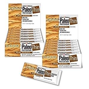 Paleo Protein Bar (Organic Sunflower Butter) 24 Bars (150 Cal, 20g Egg White Protein 5 Net Carbs)