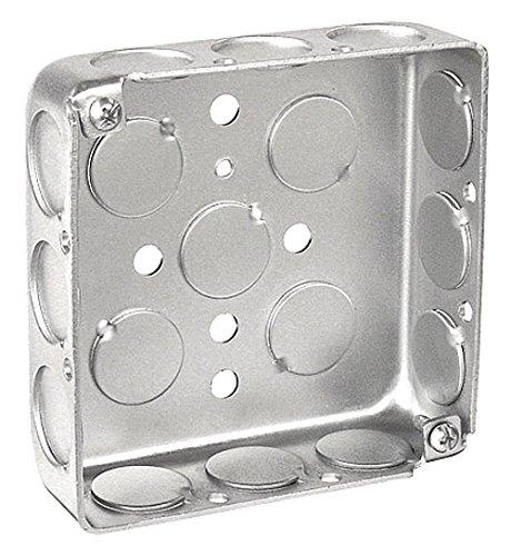 1-1/4 Inch Deep 4 Inch Square Drawn Junction Box-10 per case