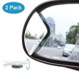 Automotive : Blind Spot Mirror, KitBest Fan Shape Adjustable Rear View Mirror, Wide Angle Convex Car Mirror Stick On Design for All Cars, SUV, Track and UTV ( Pack of 2 )