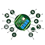 Simple Home Home Automation - 4 Relay ESP32 Development PCBA for IoT Smart Home Project DIY Automation 2.4GHz WiFi & Bluetooth 5V Board Remote Control Switch 10A 250VAC 125VAC 30VDC 28VDC Screw Terminals for Relais Sensors