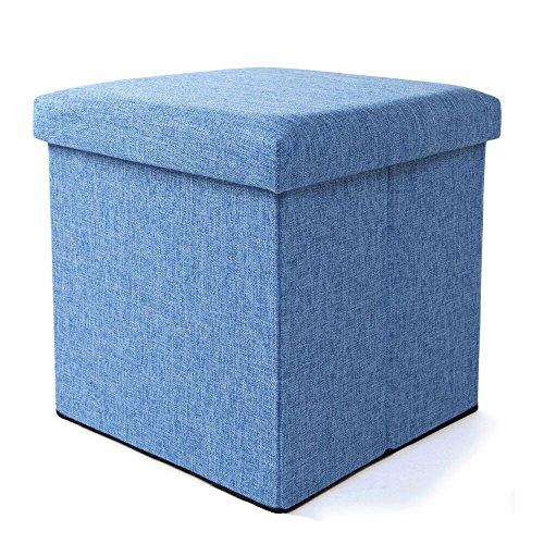 Yuleee Enviromental Foldable Storage Ottoman Seat Footrest Stool Coffee Table Cube Folding Organizer Seat 15