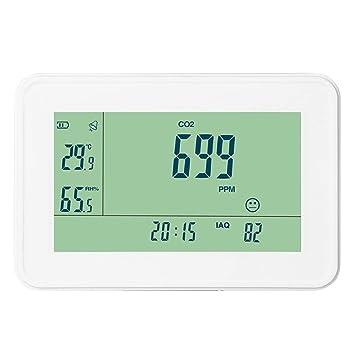 Highplus YEH-40 Detector de dióxido de Carbono CO2, Monitor de Alarma, Temperatura y Humedad: Amazon.es: Coche y moto