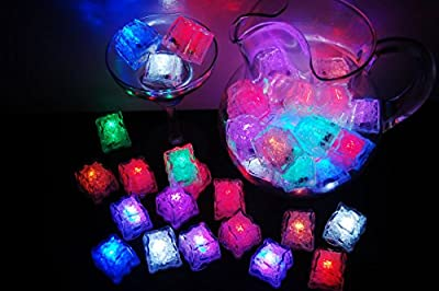 Set of 48 Assorted LiteCubes Brand LED Light Up Ice Cubes