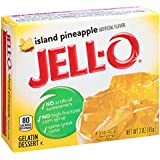 Jell-O Island Pineapple Gelatin Mix 3 Ounce Box (Pack of 6)