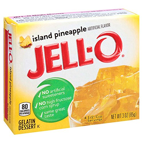 JELL-O Island Pineapple Gelatin Dessert Mix (3 oz Boxes, Pack of 6)