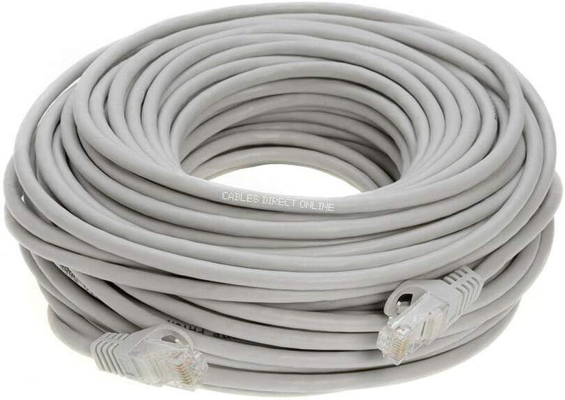 CAT5e Patch Cable Black Gray White Blue Ethernet 3ft 6ft 10ft 20ft 30ft 50ft LOT 200 ft, Black