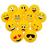 "Emoji Inflatable Beach Balls 12"" – Pack Of 12 Inflates - For Pool, Toys, Birthday Party, Prize, Party Favor – By Kidsco"