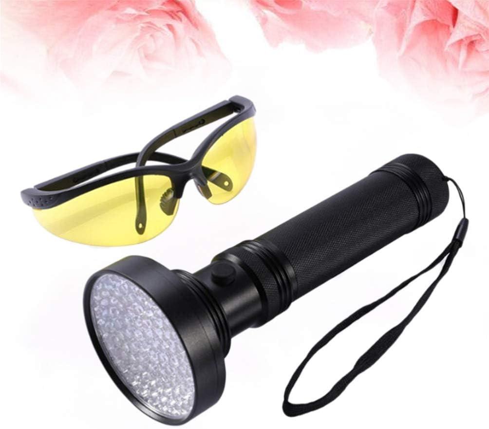 Garneck 1 PC Noir Portable LED Lumi/ère Super Creative Argent D/étecteur Lampe de poche pour largent D/étecteur Lampe de poche Batterie Non inclus