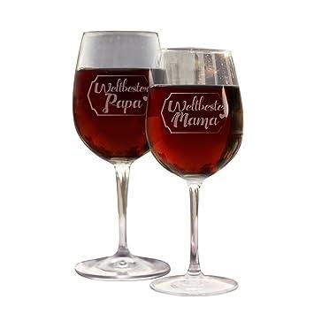 Weingläser Rot weinglas set weltbeste weltbester papa rot weißweinglas