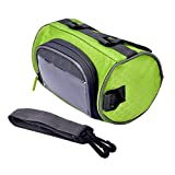 Disconano® Bicycle Frame Front Head Top Tube Bag Waterproof Outdoor Cycling Bike Handlebar Case with Phone Touch Screen Window(Green)