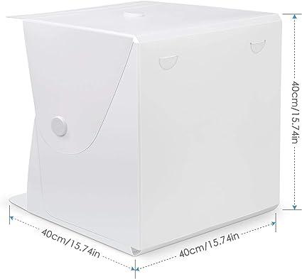 Portable Soft Tent 16 X 16 Desktop Photo Studio Led Cube Lightbox Photography Folding Lighting Aluminum Alloy Matching Multiple Openings Ways No Need to Assemblies