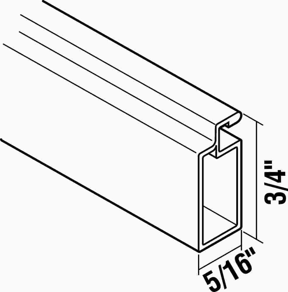 RITE SCREEN COMPANY 169RF-DB/TUBED SCREEN FRAME 1/4 IN. WIDE 6 FT. 3 IN. LENGTH BRONZE, 20 PER PACK (1/PK) by Rite Screen Company
