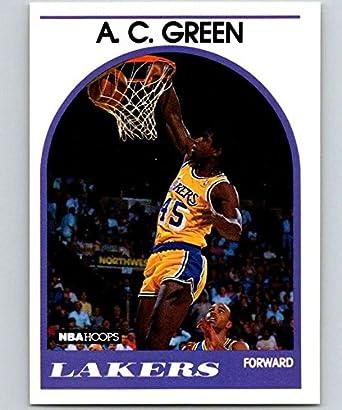 e677e7a90cb 1989-90 Hoops Basketball #124 A.C. Green Los Angeles Lakers Official NBA  Trading Card