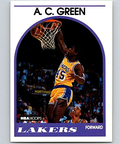 1989-90 Hoops Basketball #124 A.C. Green Los Angeles Lakers Official NBA Trading Card