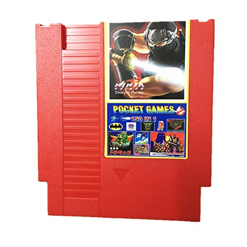 150 IN 1 Game 72 pins 8 bit Games Card Cartridge,Super Mario,Ninja Gaiden, Ninja Turtles, Contra, Kirby, Megaman, TMNT, Castlevania (shipping from china)
