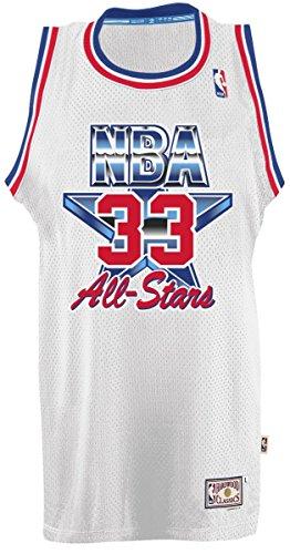 adidas Larry Bird Boston Celtics White 1992 All-Star Throwback Swingman Jersey Small
