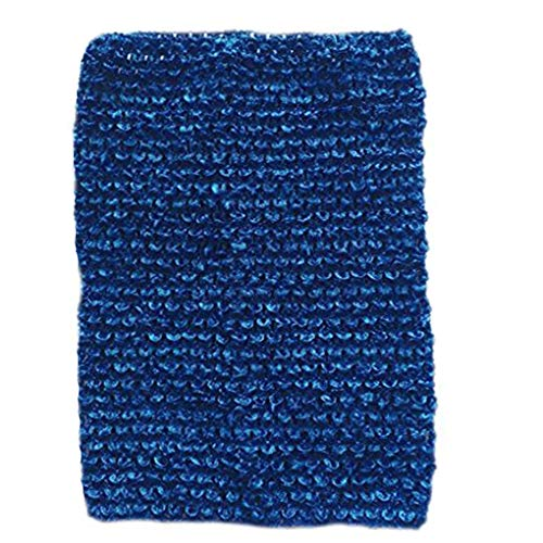 (KADIWOW Toddlers Crochet for 5-10 Years, Baby Toddlers Girl Crochet Tutu Tube Tops Dark Blue 6