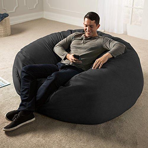 Jaxx 5 Foot Saxx - Big Bean Bag Chair for Adults, Black by Jaxx