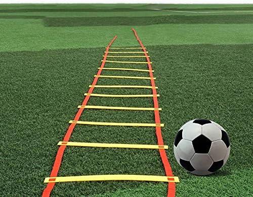 Escalera de Entrenamiento, Formación de los Hijos Adultos Velocidad de Coordinación, fútbol y Baloncesto, a Prueba de Lluvia con la Bolsa de Rotura fácil, Dos Nudos por Metro XXIOJUN: Amazon.es: Hogar