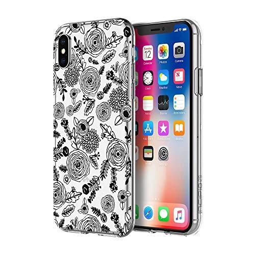 iPhone X Case, Incipio [Scratch Resistant] [Design Series] Holographic Prisms Case for iPhone X - Sticker Floral