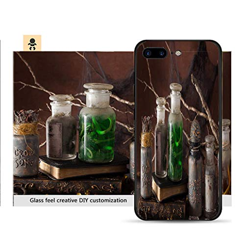 (iPhone 7p / 8p Ultra-Thin Phone case Witch Apothecary Jars Magic Potions Halloween Decoration Resistance to Falling, Non-Slip, Soft, Convenient Protective)