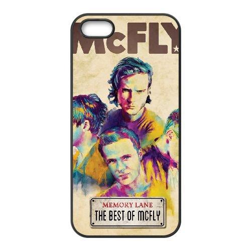 Mcfly 005 coque iPhone 5 5S cellulaire cas coque de téléphone cas téléphone cellulaire noir couvercle EOKXLLNCD25907