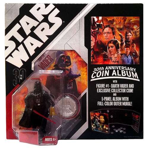 Star Wars Coin Album and Darth Vader Figure 3 3/4""