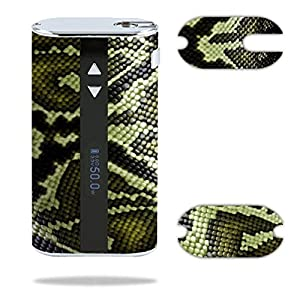 Eleaf iStick 50W Vape E-Cig Mod Box Vinyl DECAL STICKER Skin Wrap / Green Snake Skin