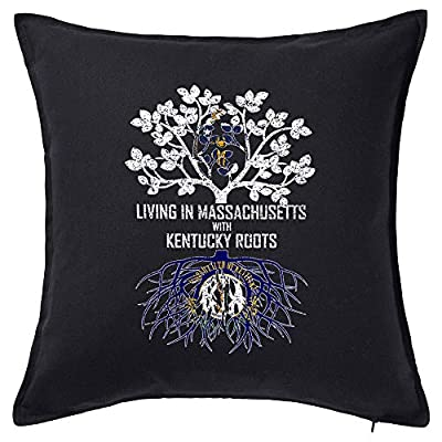 Tenacitee Living in Massachusetts with Kentucky Roots Pillow Cover