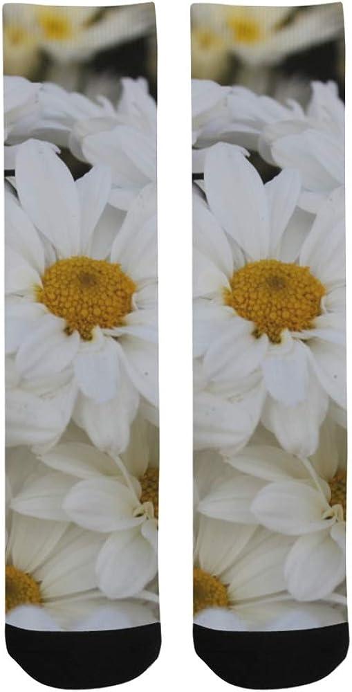 White Daisy Flower Wildlife Blossom Crazy Soccer Dress Trouser Sock Women Botts