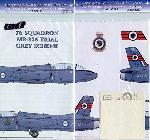 Hawkeyeモデル1: 72MB 326第76飛行隊(標準グレースキーム) a7–080デカール# aaf-010