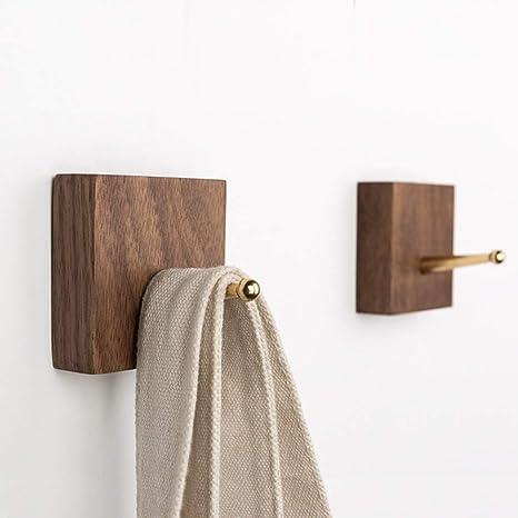Amazon.com: Ganchos de madera natural para colgar en la ...