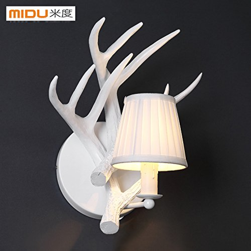 JhyQzyzqj Wall Sconce Wall Lights Living Room Aisle Bedroom Bedside lamp Staircase Balcony Room Outdoor American Simple Antler Lamps Light Resin Wall, etc.