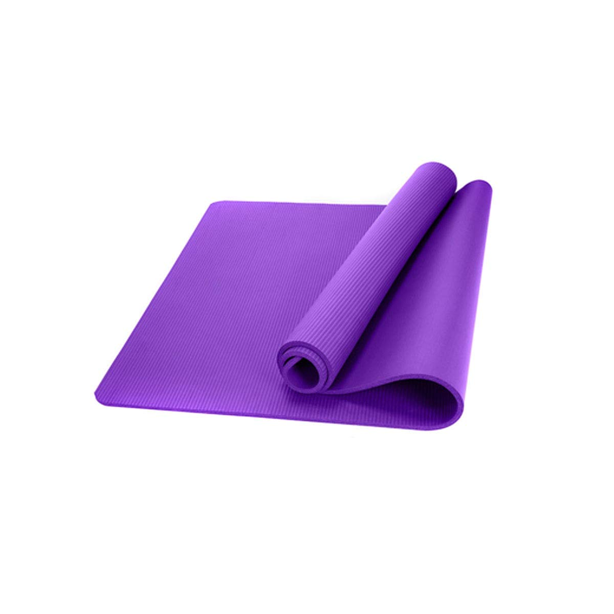 Purple Edition115mm Youshangshipin Yoga Mat, A Yoga Mat for Beginners, A Variety of Gifts, Affordable, Gift (24.4 Inches, Thickness 10 Mm, 15 Mm, Pink, Purple) Painless