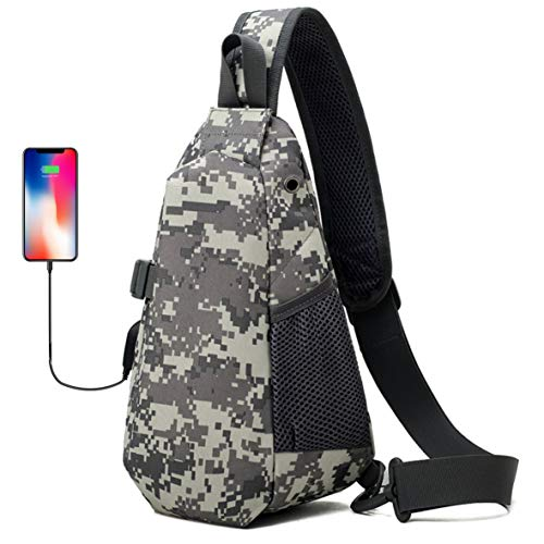 Price comparison product image DOUN Tactical Sling Bag Men's Chest Bag Outdoor Daypack Crossbody Shoulder Backpack for Hunting Camping Trekking (Camo)