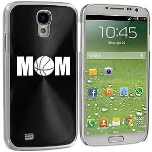 Samsung Galaxy S4 S IV i9500 Aluminum Plated Hard Back Case Cover Basketball Mom (Black)
