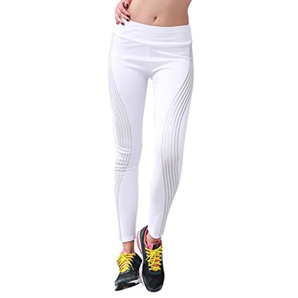 check-out a3a72 4e919 Yoga Leggings femme, Xinantime Femmes Néon Rainbow Leggings ...