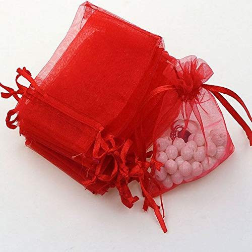Gift Bags & Wrapping Supplies - 50pcs Christmas Wedding Favor Jewellery Packing Pouches Candy Bags Gift Organza Arrival - Gauze Bag Candy Pouch Box Favor Pack Bag Box Bag Bag Bags Chin