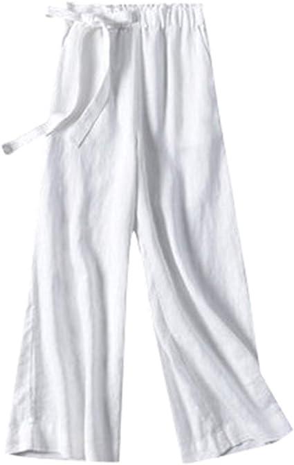 Pantalones Anchos Sueltos De Gran Tamaño Pantalones Rectos Algodón ...