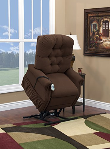 Medlift 1555P-AAC Aaron Petite Two Way Reclining Lift Chair, Cocoa