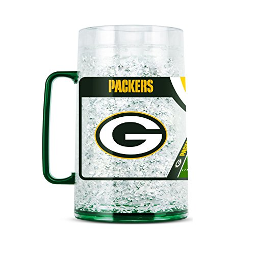 NFL Green Bay Packers 38oz Crystal Freezer Monster