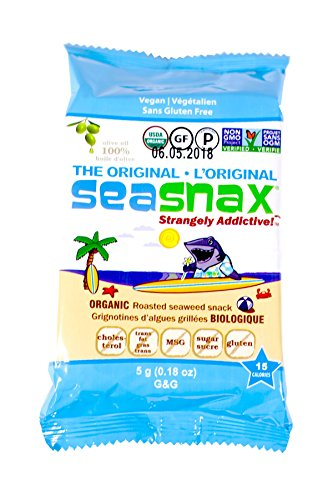 SeaSnax Roasted Seaweed Grab and Go Packs, .18-Ounce (Pack of 12)