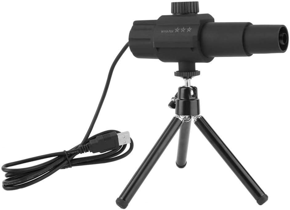 KOUPA Telescopio de cámara Digital, 2MP 70X Monoculares Inteligentes con Zoom, Video de detección de Movimiento con trípode, para observación de Aves Senderismo Camping Juegos Concierto
