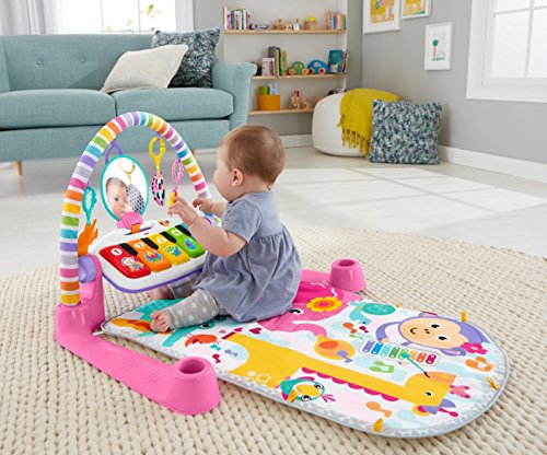 51wlRqS0STL - Fisher-Price Deluxe Kick 'n Play Piano Gym, Pink