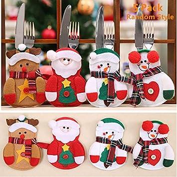 5 Packs Christmas Tableware Holders Magnoloran Christmas Table